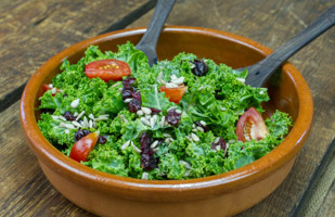 Kale Salad with Sunflower Seeds