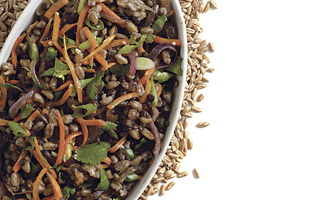 Emmer and Black Lentil Pilaf